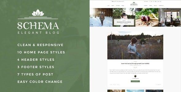Schema Elegant Responsive WordPress Blog Theme