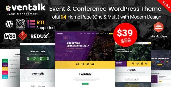 EvnTalk - Event Conference WordPress Theme - Events Entertainment