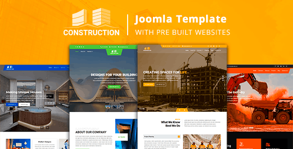 Download Construction - Joomla Template with Pre Built Websites