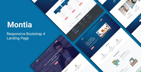 Montia - Landing Page Template - Landing Pages Marketing