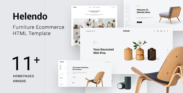 Helendo - Furniture eCommerce HTML Template - Shopping Retail