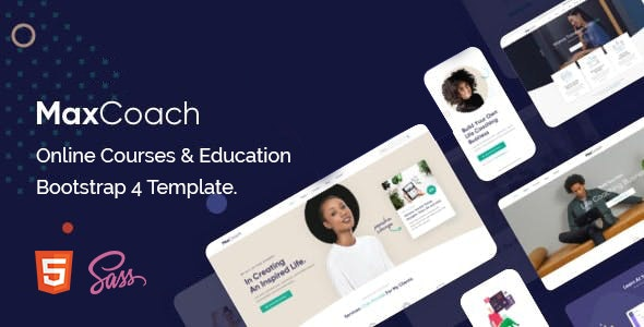 MaxCoach - Education Bootstrap 4 Template - Charity Nonprofit