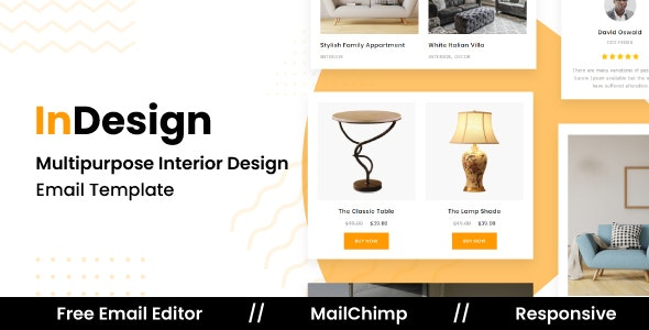 InDESIGN - Responsive Email Template For Interior Design and Architecture With Free Email Editor - Newsletters Email Templates