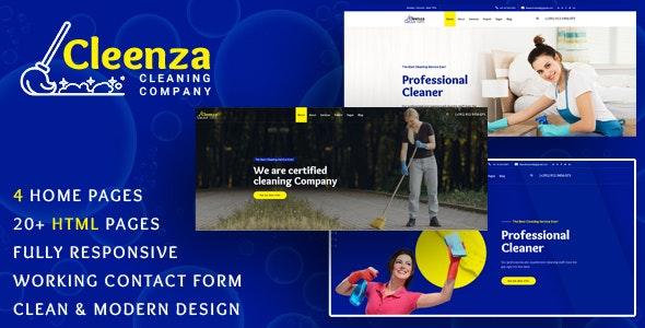 Cleenza - Cleaning Service HTML Template - Business Corporate