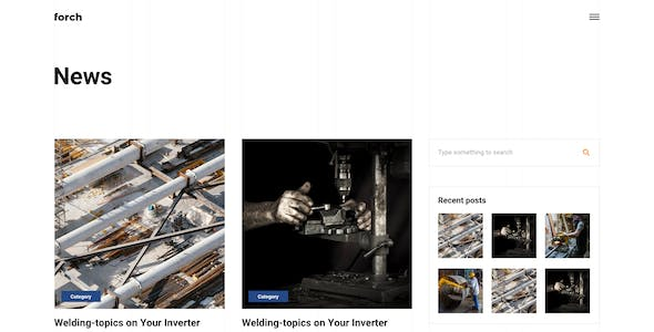 Forch - Factory & Industrial Business Adobe XD Template