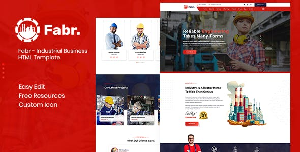 Fabr - Industrial Business HTML Template