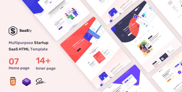 SaaSly - Startup and SaaS Landing HTML Template - Technology Site Templates