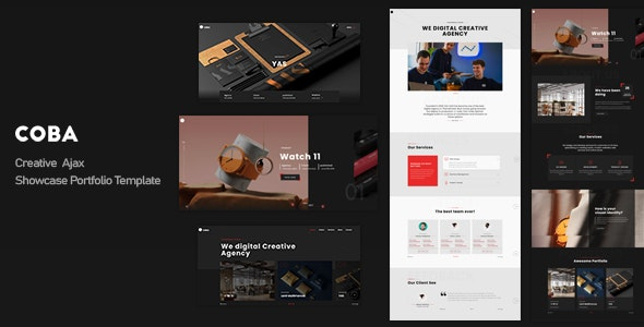 Coba - Creative Ajax Showcase Portfolio Template - Creative Site Templates