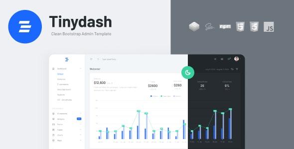 Tinydash - Bootstrap HTML Admin Dashboard Template - Admin Templates Site Templates