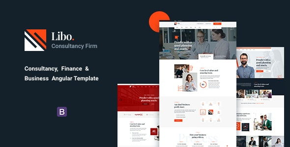 Libo - Consultancy, Finance & Business Angular Template - Business Corporate