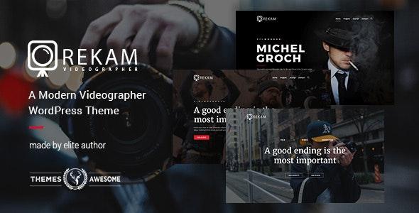 Rekam | A Modern Videographer WordPress Theme - Portfolio Creative