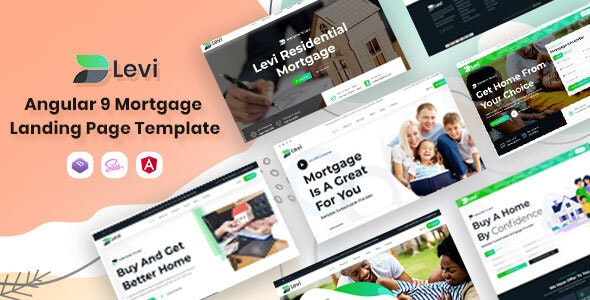 Levi - Angular 9 Mortgage Landing Template - Business Corporate