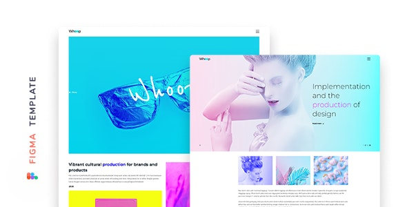 Whoop – Creative Agency Template for Figma - Experimental Creative