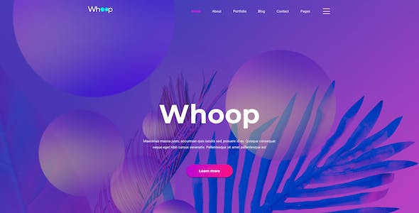 Whoop – Creative Agency Template for Figma