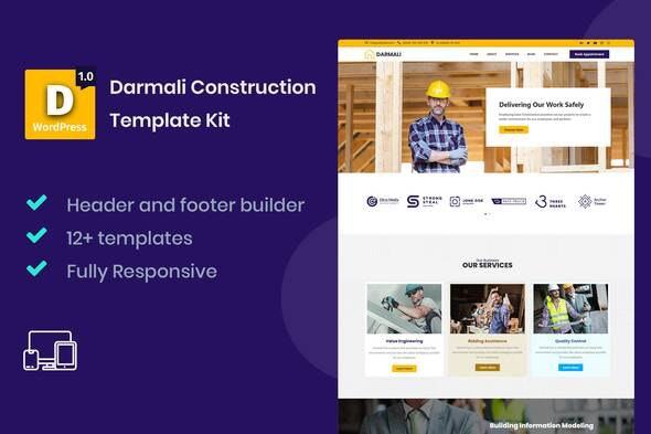 Darmali - Construction Template Kit - Business & Services Elementor