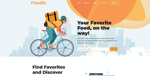 FoodDelivery - Local Business Elementor Template Kit