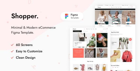 Shopper - eCommerce Figma Template - Shopping Retail