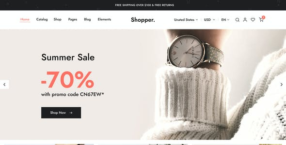 Shopper - eCommerce Figma Template