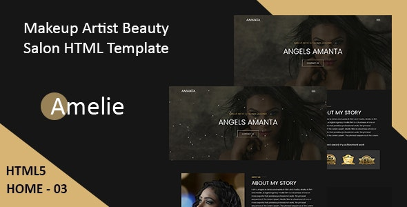 Amelie - Makeup Artist & Model Portfolio HTML Template - Health & Beauty Retail