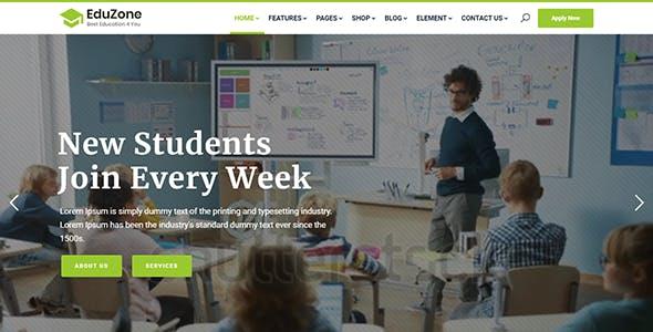 EduZone | Education Course & School Template + Admin Dashboard