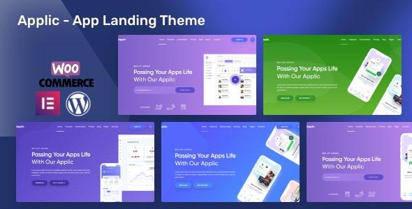 Applic - App Landing WordPress Theme - Software Technology