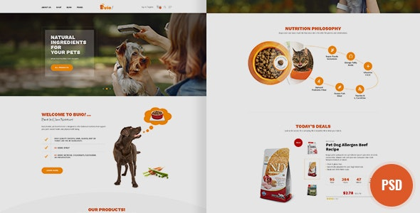 Buio Psd Template - Retail Photoshop