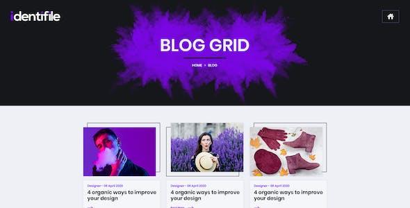 Identifile | Creative Portfolio PSD Template