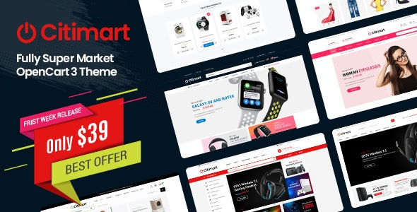 CitiMart - Fully Supermarket OpenCart 3.0.x Theme - OpenCart eCommerce