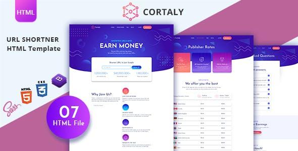 Download Cortaly - URL Shortner HTML Template