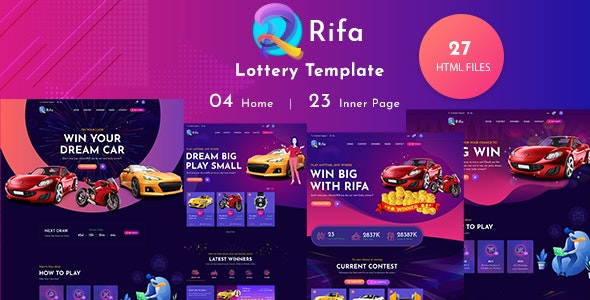 Rifa - Online Lotto & Lottery HTML Template - Miscellaneous Site Templates