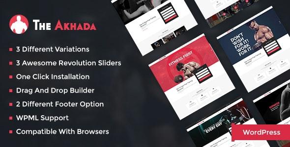 Akhada - Gym & Fitness Wordpress theme - Health & Beauty Retail