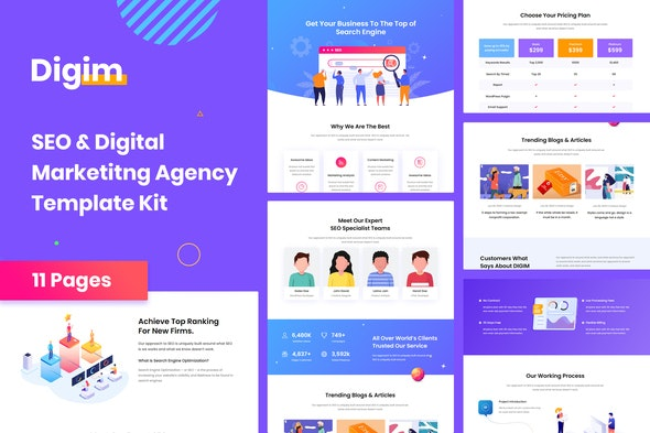 Digim - SEO & Digital Marketing Template Kit - Business & Services Elementor