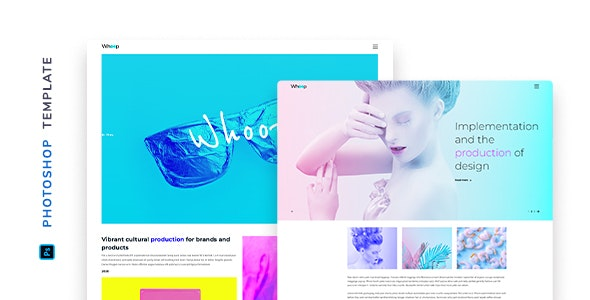 Whoop – Creative Agency Template for Photoshop - Creative Photoshop