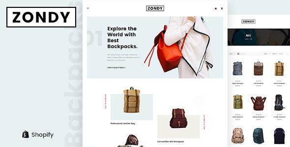 Zondy - Minimal Responsive Shopify Theme - Fashion Shopify