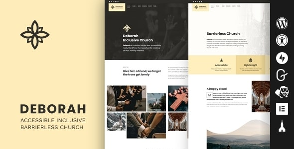 Deborah - Inclusive Church WordPress Theme - Churches Nonprofit