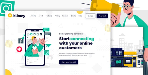 BLIMEY - Multi-Purpose HTML Landing Page Template for Business and Startups