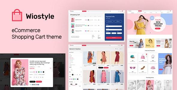 WioStyle - Fashion & Clothing eCommerce Adobe XD Template - Shopping Retail