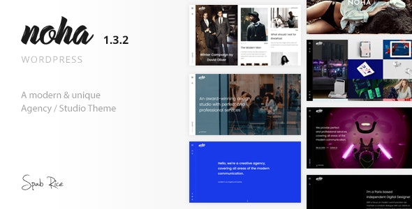 Noha - A modern Agency WordPress Theme for Creatives - Portfolio Creative