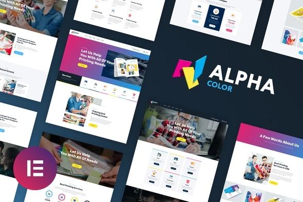 AlphaColor - Design & Printing Elementor Template Kit - Creative & Design Elementor