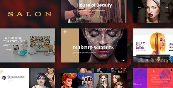 Salon Wordpress Theme For Hair Beauty Salons By Freevision Themeforest