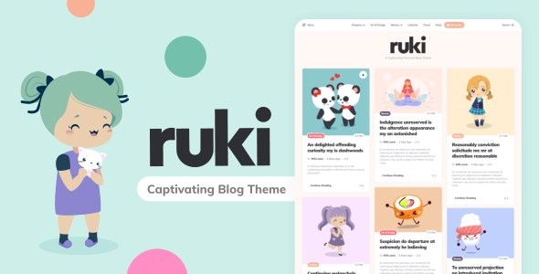Ruki - A Captivating Personal Blog Theme - Personal Blog / Magazine