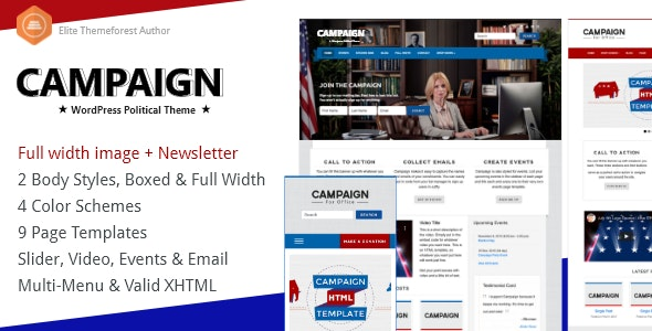 Campaign - Political WordPress Theme - Political Nonprofit