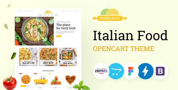 Foodleco - Italian Food Opencart Theme, Pizza Delivery Service - OpenCart eCommerce