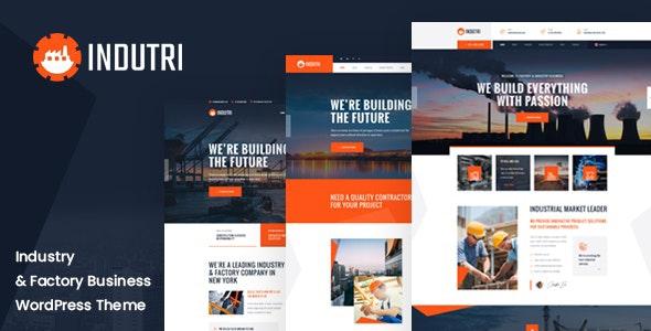 Indutri – Factory & Industrial WordPress Theme - Business Corporate