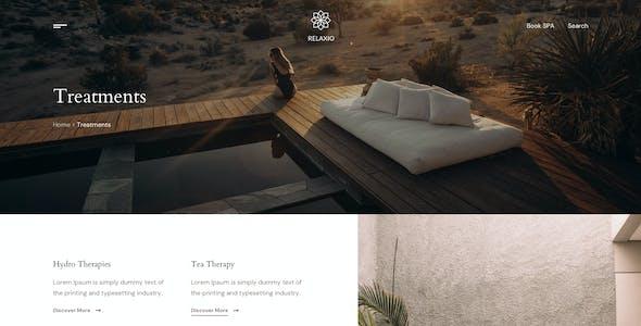 Relaxio - Spa Massage Salon Adobe XD Template