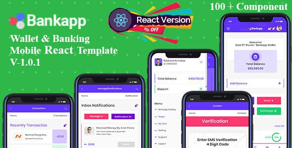 Bankapp - Mobilekit Wallet & Banking React Mobile Template With RTL - Mobile Site Templates