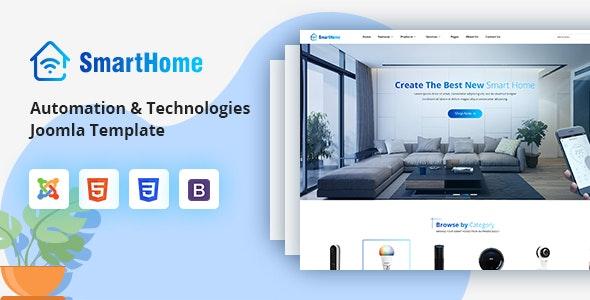 SmartHome - Smart Home Automation & Technologies Joomla Template - VirtueMart Joomla