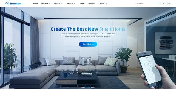 SmartHome - Smart Home Automation & Technologies Joomla Template