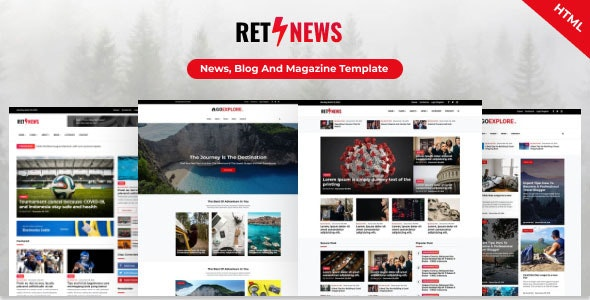 Retnews - News, Blog & Magazine Template - Travel Retail