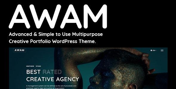 Awam - Elementor Free / Pro Creative Portfolio Agency WordPress Theme